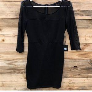 Jack by BB Dakota | Black Mesh Mini Dress size 2